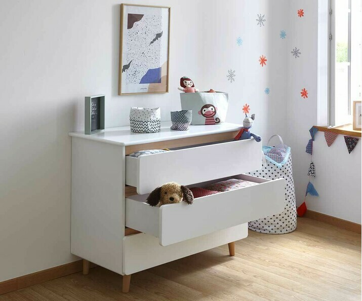 Commode enfant willow blanche bois massif