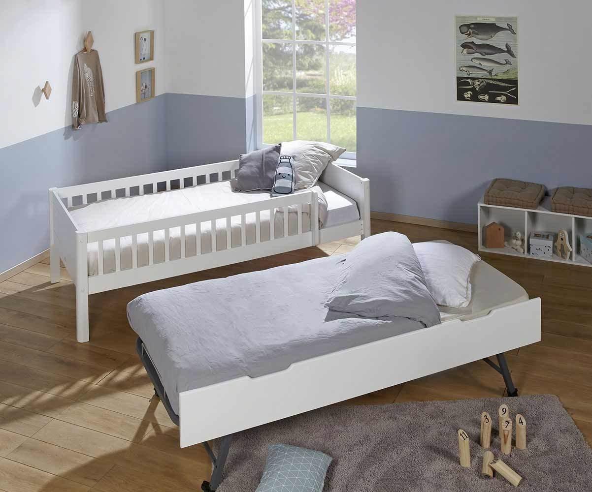lit superposé enfant haut avec sommier gigogne rio 3 couchages