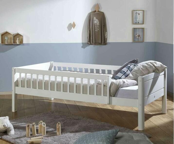 lit enfant avec barri res rio sommier bois massif inclus. Black Bedroom Furniture Sets. Home Design Ideas