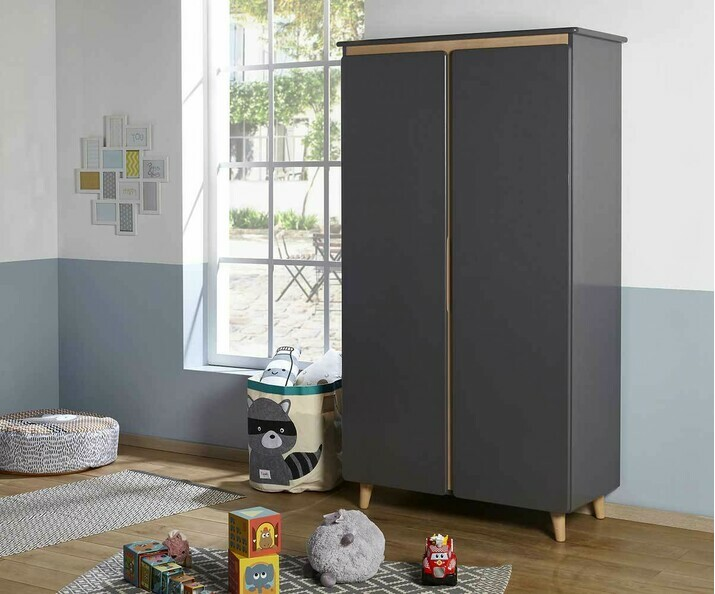 Armoire ado Willow gris anthracite