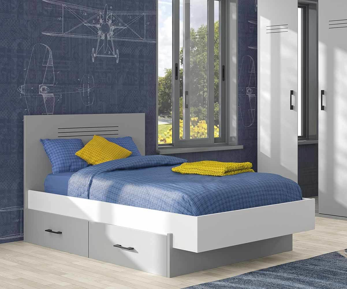pack lit ado ezio un couchage complet made in france. Black Bedroom Furniture Sets. Home Design Ideas
