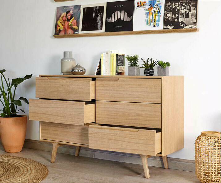 Commode en bois scandinave