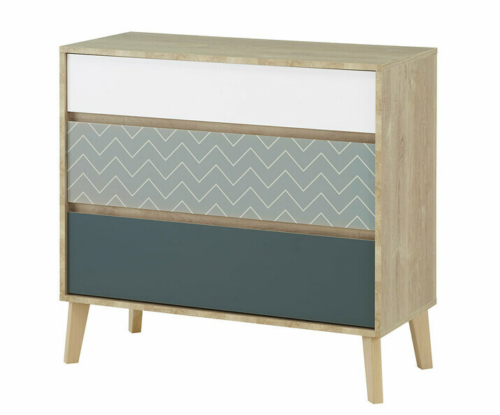 Commode adulte 3 tiroirs - Pearl