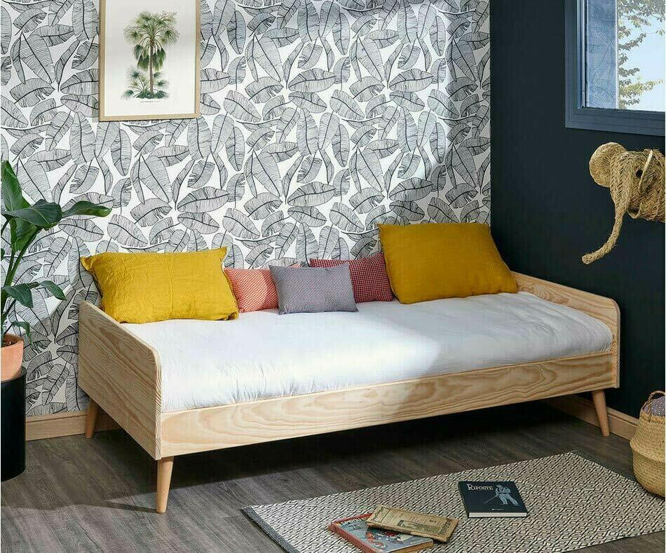 lit enfant avec sommier matelas et pieds  octave bois