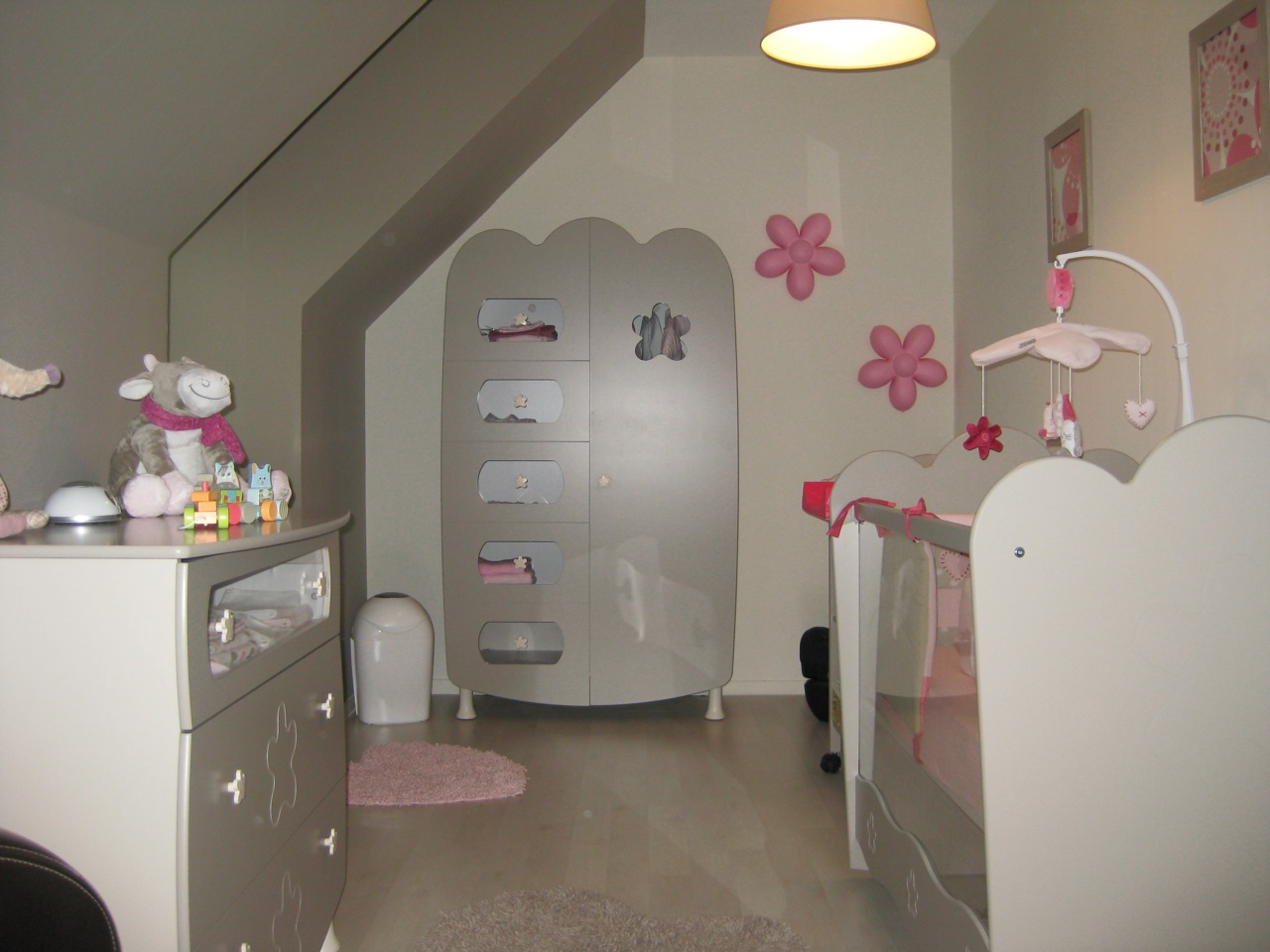La chambre b b lin a lin sable par christelle - Idee chambre bebe fille ...
